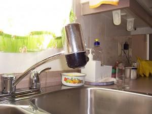 Csapra szerelhető víztisztító